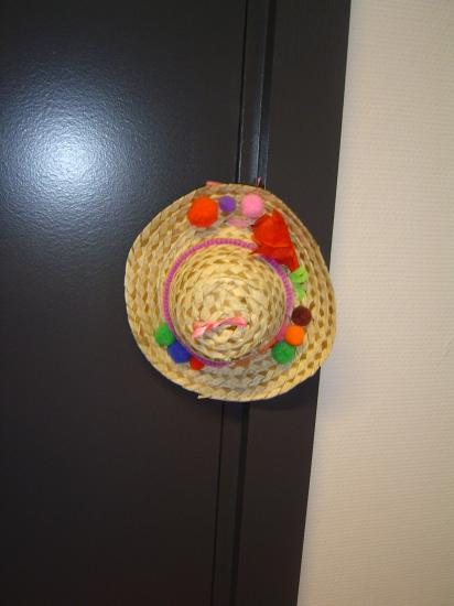 Chapeau décoré