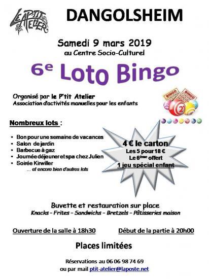 Affiche loto 2019